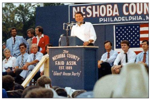 Ronald Reagan in 1980 in Mississippi