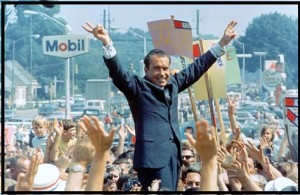 Richard Nixon campaigns in Philadelphia in 1968
