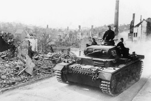 A German tank in France in 1940